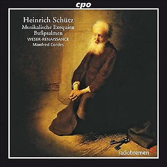 H. Schutz - Heinrich Sch Tz: Musikalische Exequien; Bu Psalmen Cordes [CD] USA import