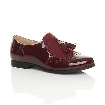 Ajvani womens talons bas gland plat style vintage travail intelligent chaussures richelieus