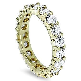3ct diamant evigheden Ring 14K gul guld