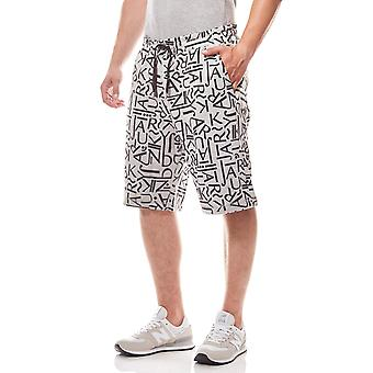 JUNK YARD Cliff letters men's leisure shorts grey print