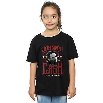 Johnny Cash Mädchen Mann im schwarzen T-Shirt