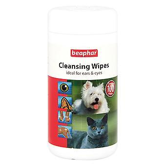 Beaphar kat & hond reinigings doekjes ideaal voor oren en ogen, 100 hygiënische doekjes
