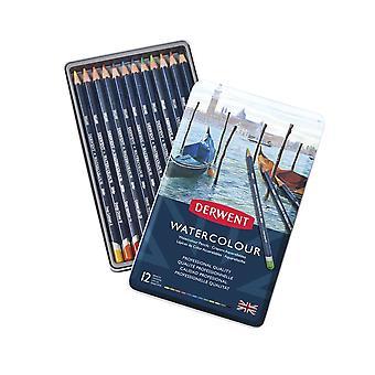 Derwent Watercolour Pencils 12 Tin
