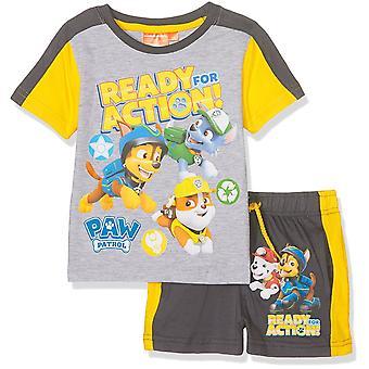 Kurzarm T-Shirt Boys Pfote Patrol & Shorts Set