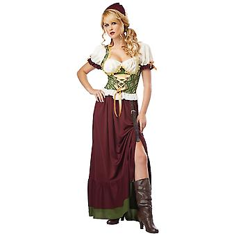 Renaissance Wench Medieval Beer Maid Tavern Oktoberfest Woman Costume
