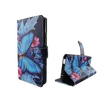 Mobiltelefon tilfælde pose for mobile ZTE blade L3 blå sommerfugl