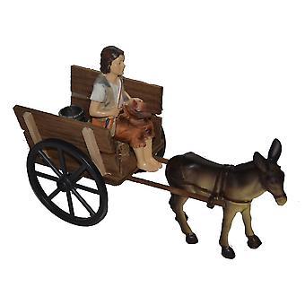 Nativity accessories stable Nativity set DONKEY carts Nativity scene wood cart