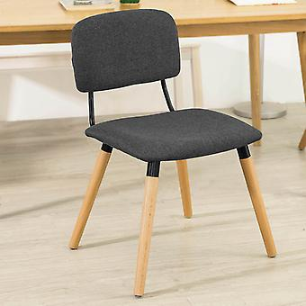 SoBuy Kitchen Dining Chair Fabric Upholstered Seat & Backrest with Wooden Legs Brown FST54-BR