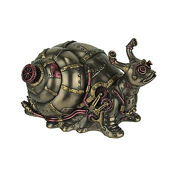 Highly Detailed Steampunk Land Snail Trinket Box