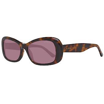GUESS ladies Sunglasses brown Butterfly