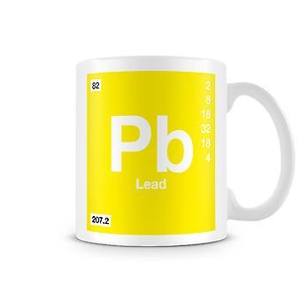 Mug imprimé scientifique, mettant en vedette élément symbole 082 Pb - plomb