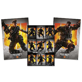 Call of duty black ops 4 poster set ruin, battery and characters