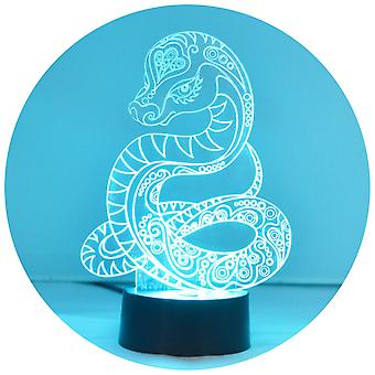 Decorative Snake Colour Changing LED Acrylic Light