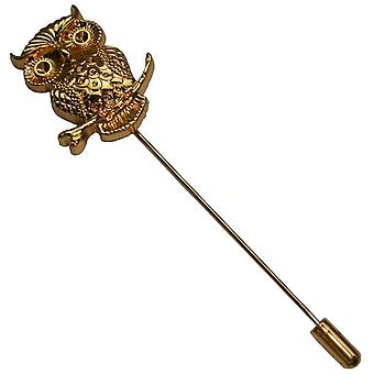 Bassin and Brown Owl Lapel Pin - Gold