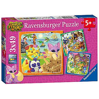 Ravensburger Animal Jam Jigsaw Puzzles - 3 x 49 Pieces