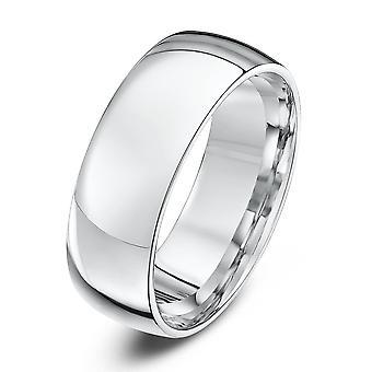 Sterne Hochzeit Ringe 18 Karat Weißgold Licht Gericht Form 7mm Ehering