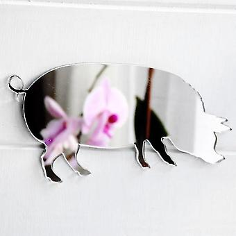 Farm Yard Pig Acrylic Mirror