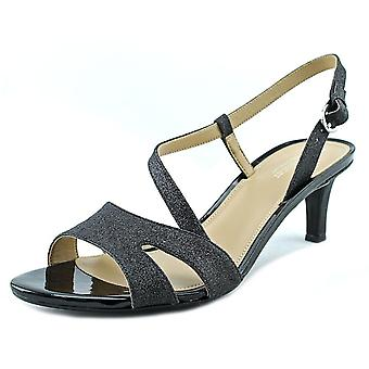 Naturalizer Harmony Women Open Toe Canvas Black Sandals
