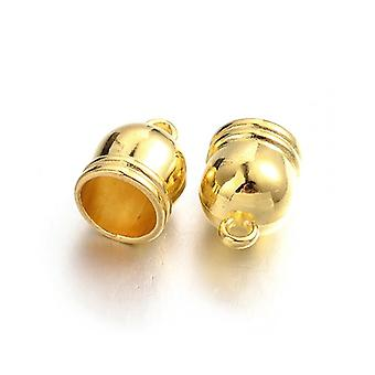 Pakket 6 x gemengde vergulde Brass Bell-Shape einde Caps 12 x 16mm HA12135