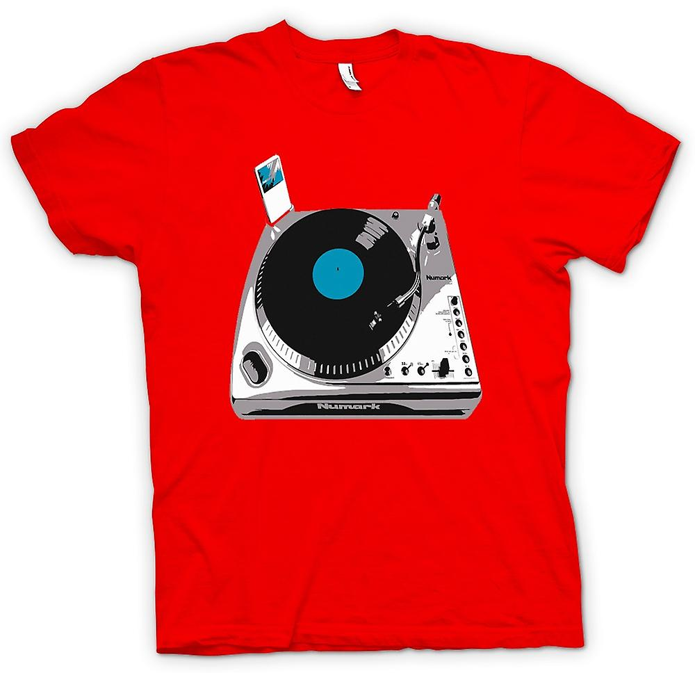 Heren T-shirt-DJ iPod dekken