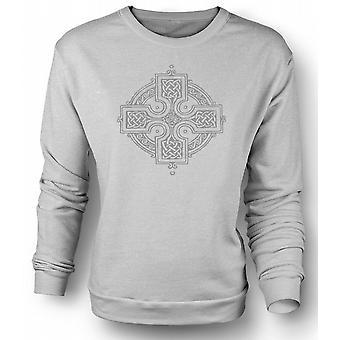 Mens Sweatshirt keltisches Kreuz 2 - Tattoo-Design