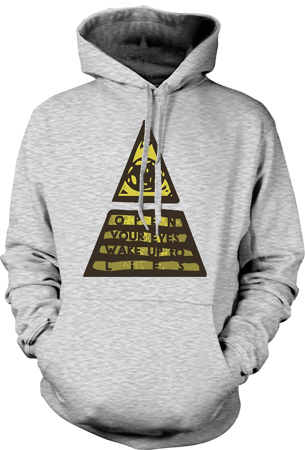 Mens Hoodie - Illuminati Wake Up To The Lies