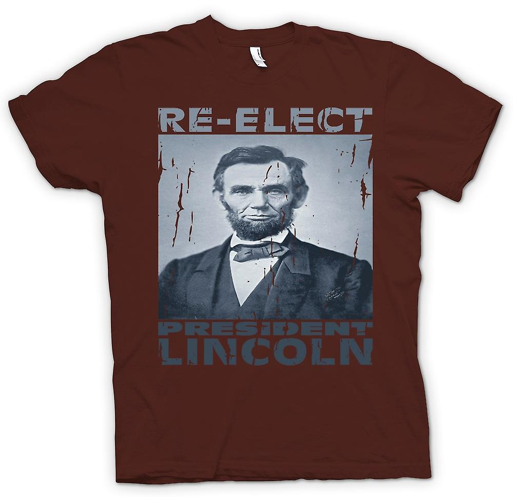 Mens T-shirt - Relect Präsident Lincoln - Portrait