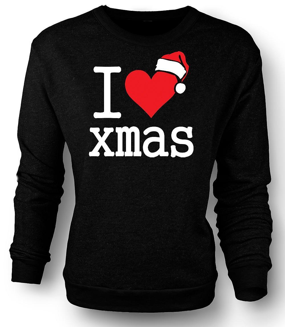 Mens Sweatshirt j'aime Noël - Noël drôle