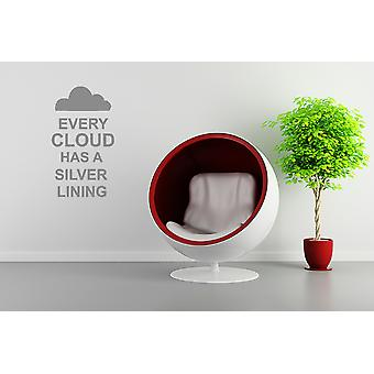Every Cloud Has a Silver Lining Wall Sticker
