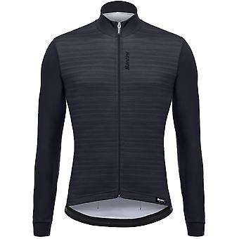 Santini Black 365 Classe Long Sleeved Cycling Jersey