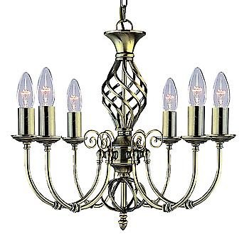 Searchlight 8396-6 Zanzibar 6 Light Pendant