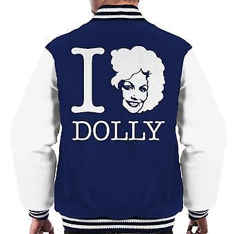 I Heart Dolly Parton White Men's Varsity Jacket
