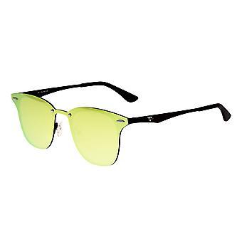 Eenenzestig Infinity gepolariseerde zonnebrillen - zwart/geel-groen