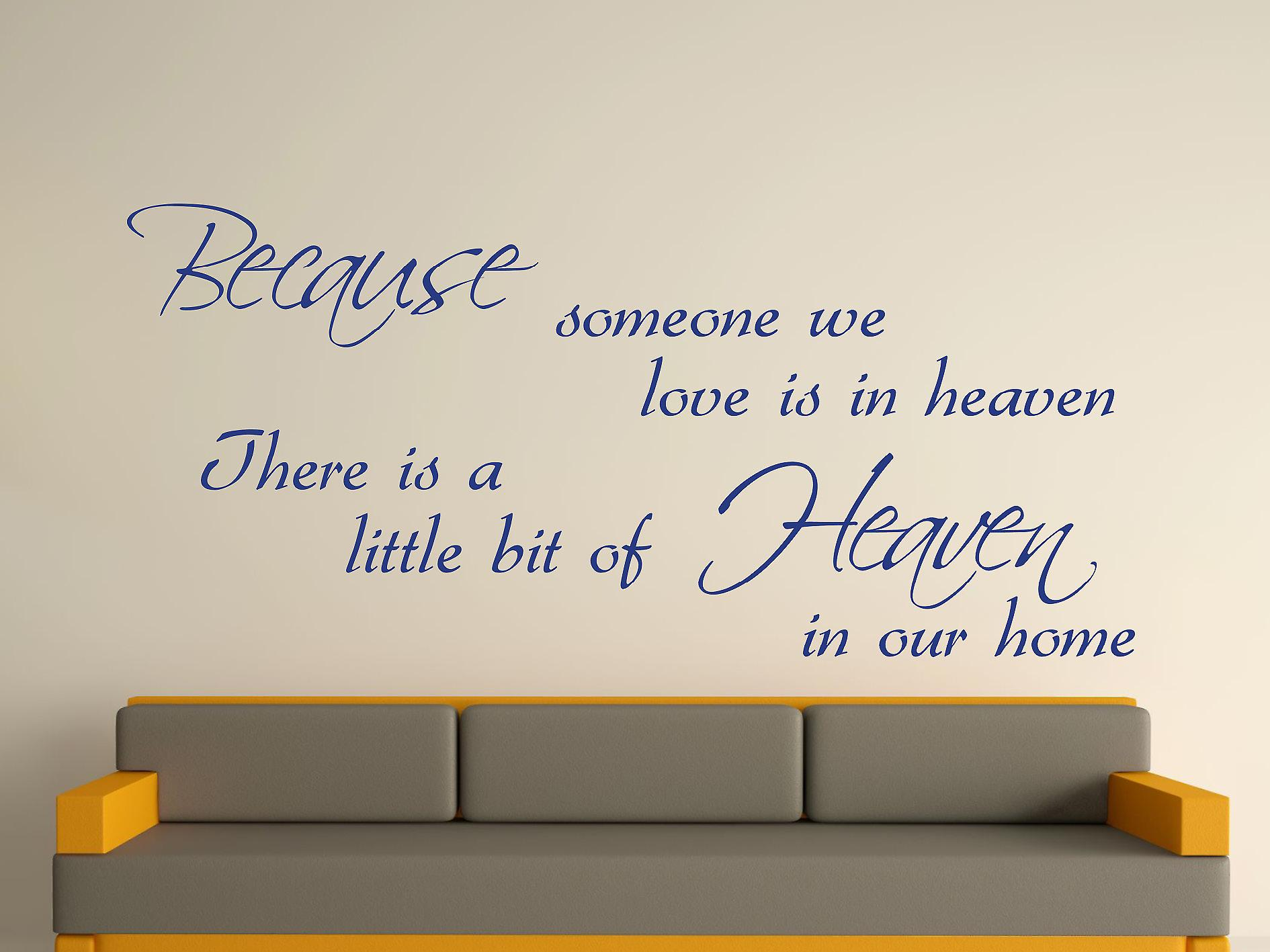 Because Someone Wall Art Sticker - Azure