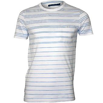 French Connection Stripe Crew-Neck T-Shirt, White