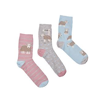 Three Pack - Baarrbara Sheep Print Socks