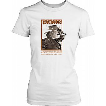 Winston Churchill - Focus - chaîne de destin dames T Shirt