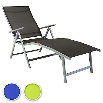 Charles Bentley Foldable Textilene Sun Lounger 7 Position Space Saving - Fully Assembled - 3 Colours