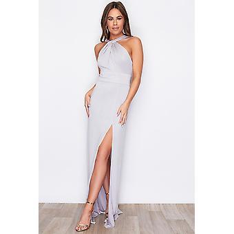 Halterneck Twist Detail Maxi Dress