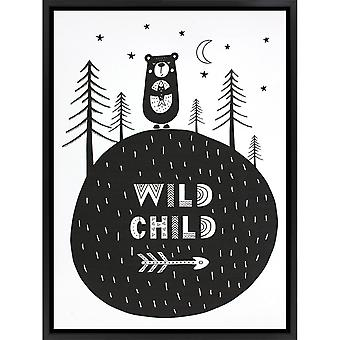 Grindstore Wild Child Canvas Print
