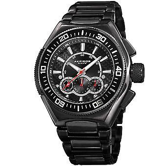 Akirbos XXIV AK910BK Men's Quartz Chronograph Black Bracelet Watch