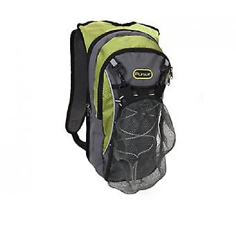 Summit 2L 2 Section Hydration Backpack with Bladder Green