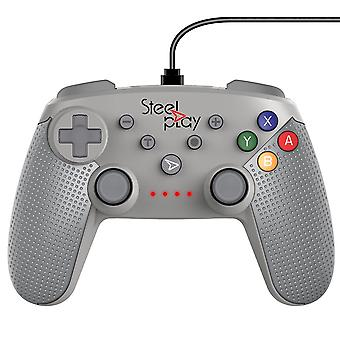 Steelplay-Wired Controller Classic SN Grey For Nintendo Switch