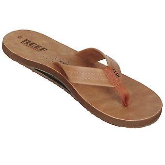 Reef Leather Men's Sandal with Bottle Opener ~ Draftsman brown