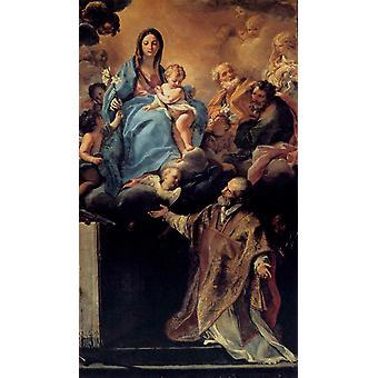 The Madonna and its aparicion to San,Carlo Maratta,60x35cm
