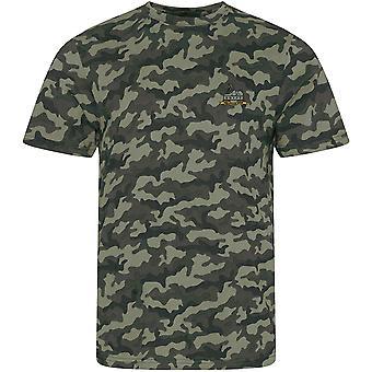 Royal Lincolnshire Regiment-gelicentieerd Britse leger geborduurd camouflage print T-shirt
