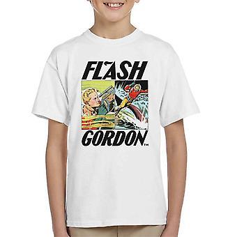 Flash Gordon Action Comic Montage Kid's T-Shirt