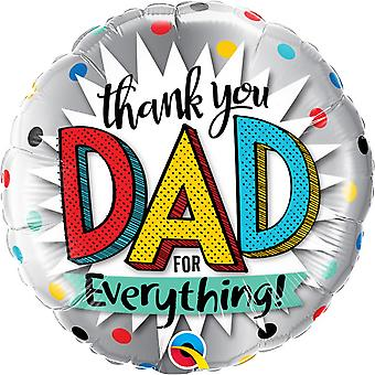 Qualatex Thank You Dad For Everything 18in Foil Balloon