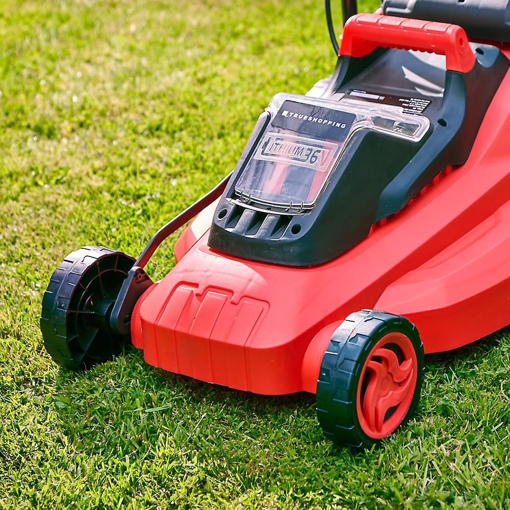 Cordless Wheeled Lawn Mower Cutting Width 36cm Grass Bag 35 Litre (Body ONLY)