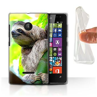STUFF4 Gel TPU Phone Case / Cover for Microsoft Lumia 532 / Sloth Design / Wildlife Animals Collection